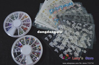 Wholesale New Personal D Metal Nail Art Decoration Studs Practice Set Nail Care Tool Wood Stick sheets Decal Wheels Rhinestones40