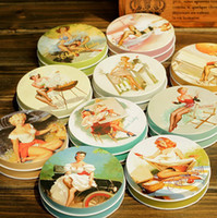 Wholesale Marilyn Monroe pattern of metal cigarette box jewelry box Color pattern different styles CM