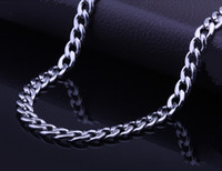 china christmas - 6 mm Stainless Steel Necklace Curb Cuban Chain Necklace Mens Chain Christmas gift quot inch Drop Free JN06154