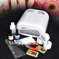 Wholesale W White Nail UV Lamp Light UV Gel Brush Plier Nail ART MANICURE KIT 407