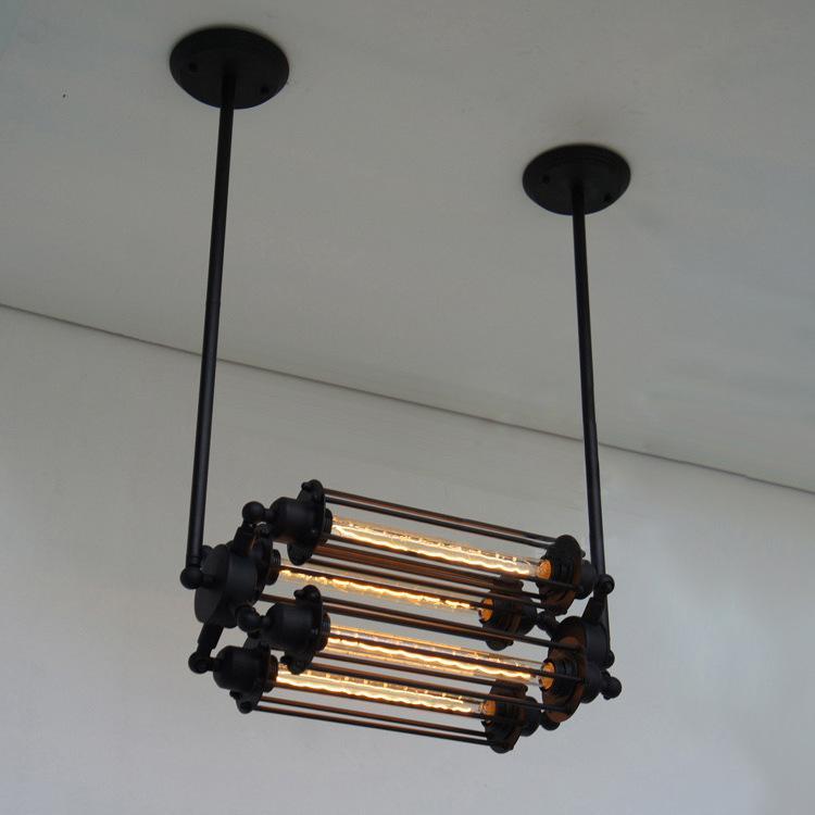 Edison Bulb Chandelier Lighting Lamps Vintage Retro Bar Table Lamp – Bar Chandelier
