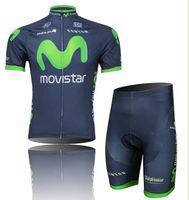 Short Men  2014 wholesale cycling jerseys Movistar Cycling Jersey Sets cycling clothes cycling short bib 1set lot