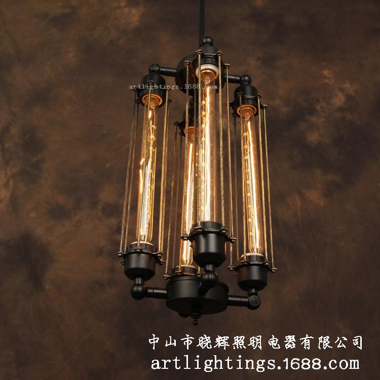 Rh Loft Heavy Metal Industrial Style Chandelier Vintage Edison Bar – Industrial Chandeliers