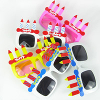 Wholesale New Arrival Happy Birthday Party Glasses Novelties Party Sunglasses Mix Different Colors Party Eyewear Club Party Accessories