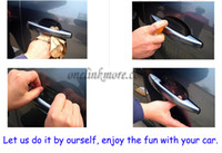 Wholesale 8pcs Universal Invisible Car Door Handle Scratches Automobile Shakes Protective Vinyl Protector Films car Handle Protective