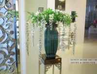Wholesale Wedding Wisteria Flower Vine Perfect Silk Artificial Flower Garden Rattan Home Decoration Wedding Party Gift