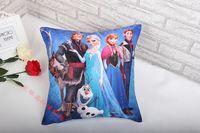 Wholesale Frozen Princess Elsa Anna Fashion Pillow Case CM Cartoon Cushion Cover Multipatterns