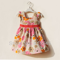 TuTu Summer A-Line Flower Casual Vestido Infantil Girl Dress for 2014 New Summer Baby Outfits Wear Kids Clothes Toddler Boutique Clothing Bebe Wear