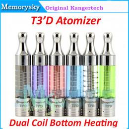 Wholesale 100 Original Kanger T3 HABÍA Kangertech T3D atomizador Clearomizer Reemplazable de Doble Bobina de Calefacción Inferior ajuste ego de la batería T3S atomizador