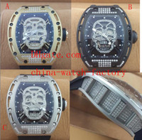Wholesale Luxury AAA Top Quality Wristwatch Swiss ETA Movement New Style Full Diamond Skull Tourbillon Automatic Mens Watch Men s Watches
