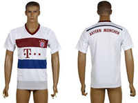 Wholesale New Style Bayern Munich Away White Soccer Jersey Football Shirt Thai Quality New Club Soccer Wears Brand Quality Football Kits
