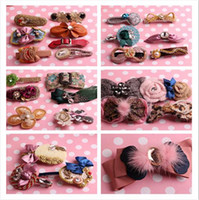 Barrettes & Clips Women's Party HOT SALE Women fashion head flower Girl Hair accessories Clip and hair band,Mix color and style
