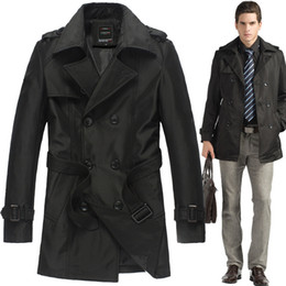 Wholesale New Autumn amp winter spring Men s trench coat men casaco masculino male overcoat manteau homme jaqueta masculina long trench