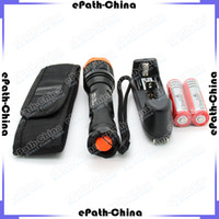 Wholesale KC XM L T6 LM Cree LED Flashlight Torch With mAh Rechargeable Battery Charger Holster