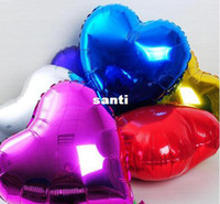 Wholesale Fashion Hot Heart model inch Inflatable Aluminum Foil Balloons for Wedding Birthday Party decoration mixed
