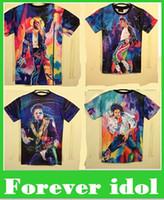 Wholesale New Fashion men s d T shirt print King of Rock and Roll Michael Jackson d t shirt for men Boy Tshirt Asia M L XL XXL top sale free