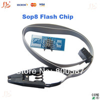 Wholesale SOIC8 SOP8 flash chip IC Test Clips socket adapter BIOS programmer