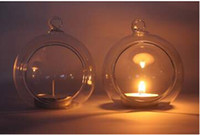 Wholesale The high quality hanging glass candle holders candlestick Vase for Wedding Christmas decorations Hanging terrarium ballglass Home Decor