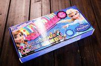 12-24M Multicolor Rubber Frozen Fun colourful loom bands DIY bracelets rubber rainbow band Anna Elsa bracelet the summer gift toy for children child 50pcs
