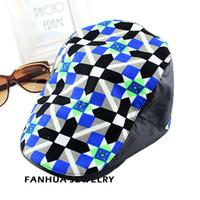 Wholesale Fashion New Designer Cotton Print Flower Novelty Designer Summer Visors Hats Apparel Accessories For Women