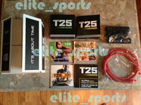 Cheap T25 DVD Focus MIB Shaun T' Crazy Potent Slimming Training Set Alpha Beta Core Speed 10 DVDs Body Building Video DHL Factory Sales