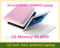 OEM 10-10.9'' Android 4.0 Wholesale - Cheap 10inch Mini Laptop Notebook Computer webacm 1G 4G Via 8850 Android netbook laptops HDMI Integrated Graphics