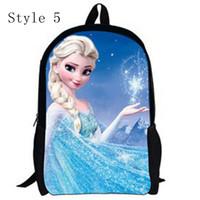 Wholesale 2014 fashion bags kids backpack cartoon frozen print designer bags baby shoulder bag children school bag Christmas gift for girls boys