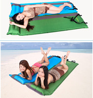 Wholesale New Self Inflating Air Mattress Bed Splicing Moisture Proof Camping Outdoor Sleeping Pad Mat Colors W1041
