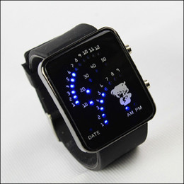 Wholesale Sign of watches fanghaped blu ray led electronic watch gift