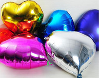Wholesale New Arrive Heart model inch Inflatable Aluminum Foil Balloons for Wedding Birthday Party decoration mixed