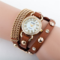 Wholesale Fashion Women Quartz Watches Lady Leather Rose Gold Netting Wrist Watches Round Dial Charming Bracelets Watches Mix Colors Drop Shipping