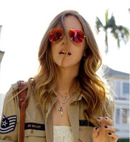 Resin Lenses Beach Cat Eye Free Shipping Wholesale Men And Women Color Film Sunglasses Female Luxury Brand Desingner Sunglasses 2014 Yurt Frame Star Fashion Glasses