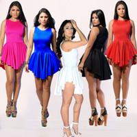 Casual Dresses bandage dress - New spring Summer White Sexy Women Bandage Mini Sun Dress Celebrity Party Casual Dresses Plus Size Women Prom Clothing