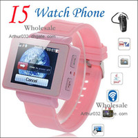 mp3 mp4 touchscreen - High Promotion I5 Watch Phone iwatch Quad Band Bluetooth quot Touchscreen with Bluetooth MP3 MP4 FM One Sim Card Phone
