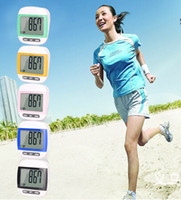 Wholesale Waterproof Multi Function Digital Pedometer Walking Meter Fashion Screen