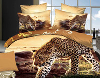 100% Cotton forever printed 3D Leopar Comforters 4 pcs Bedding Sets Queen King Size 100% Cotton Fabric Quilt Duvet Cover Flat Fitted Bed Sheet Pillowcase Drop Shipping
