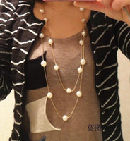 Wholesale Min Order Is Mix Order amp Multilayer Pearl Necklace Korea Fashion Elegant Princess Necklace White