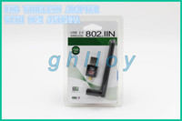 Wholesale 150M Mbps Mini USB WiFi Wireless Network Card n g b LAN Adapter with cm Antenna up