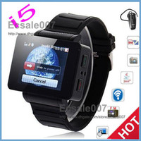 Wholesale New Products inch Touch Screen i5 Watch Phone Quad Band Wrist Phone with Bluetooth MP4 FM Java Camera MEGA Pixels Compass