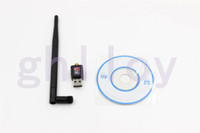 Wholesale High Promotion wifi transmitter receiver Mini M USB WiFi Wireless Network Card with Antenna Computer Accessories UP