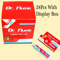 New 1pc/lot  24Pcs With Dispaly Box Top Anesthetic Tattoo Super Numb Painless Tattoos Cream For Tattoo Piercing Makeup Numbs Skin Fast Tattooing Supply