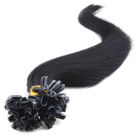 Wholesale DHL Color1B Peruvian Remy Prebonded U Tip Hair Extension g strand strands Pack Cold Fusion Hair Extension