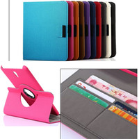 Wholesale cowboy skin rotary rotating wallet credit card slots folio leather case cover pouch for Samsung Galaxy Tab S T700 folio case