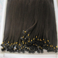 cold fusion hair extensions - Color1B Indian Remy Prebonded U Tip Hair Extension g strand strands Pack Cold Fusion Hair Extension