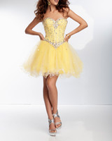 Reference Images Tulle Sweetheart 2014 Charming Short Homecoming Dresses Clearly Crystals Overlay Soft Tulle Cocktail Dresses A-line Corset Bodice Layers Prom Party Dresses