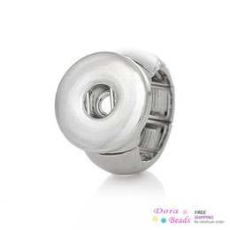 Copper Adjustable Nice Rings Silver Tone Fit Snaps Nice Buttons 16.7mm(US 6.25),2 PCs (B36831)