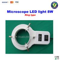 white annular fluorescent lamp - 8W Ring type LED light Microscope Lamp Fluorescent Tube Annular tubes Ring Adjustable LED Lamp light