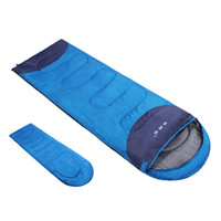 Wholesale Hot Item Mummy Lovers Thermal Sleeping Bag Splicing Carrying Case Camping Hiking Outdoor Envelope Hooded Adult Sleeping Bag Colors W1040