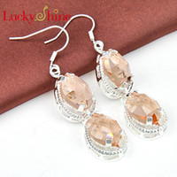 Free Shipping- - 925 sterling silver earrings for lady crystal...