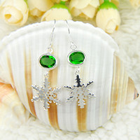 Free Shipping- - 925 sterling silver earrings for lady greeb c...